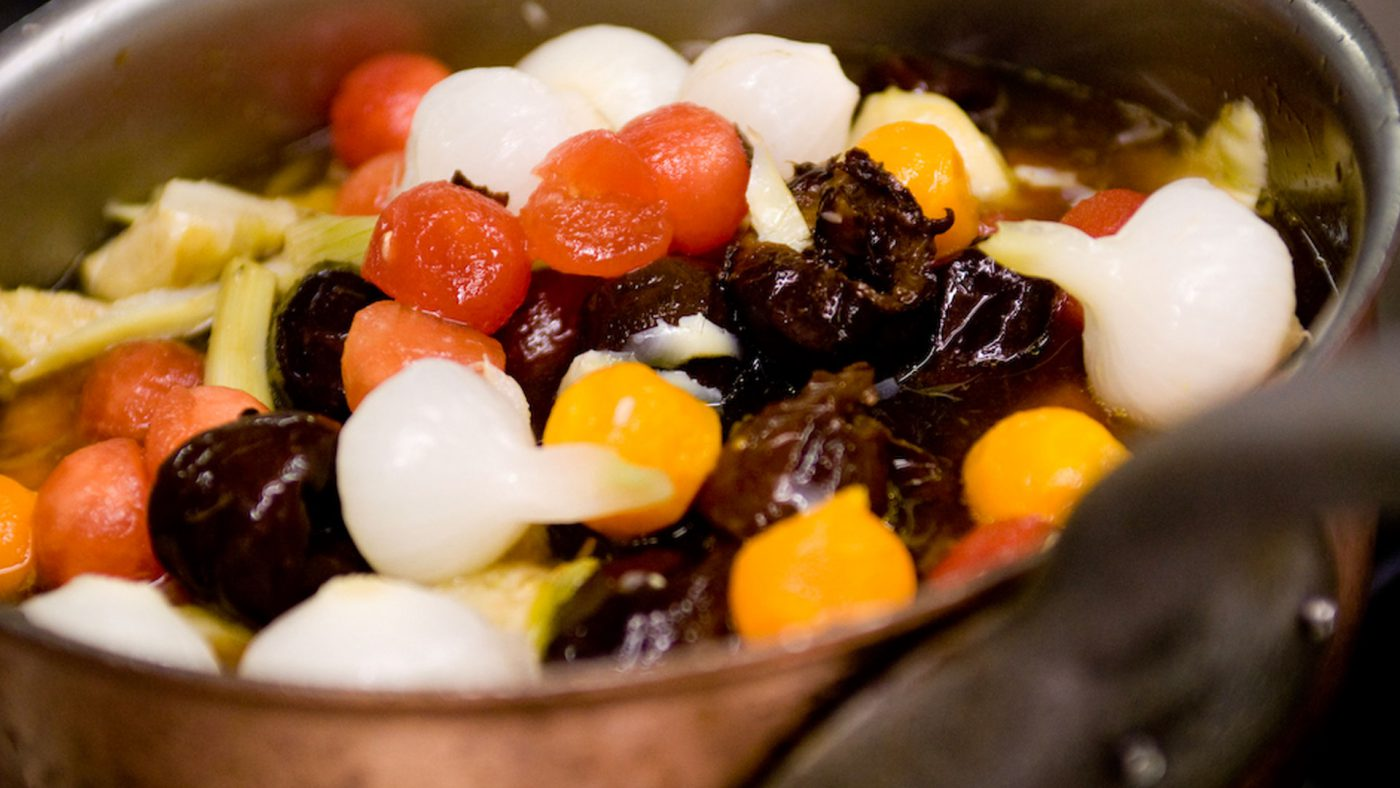 Cyrille Billot Restaurant, Mets Plat petits légumes